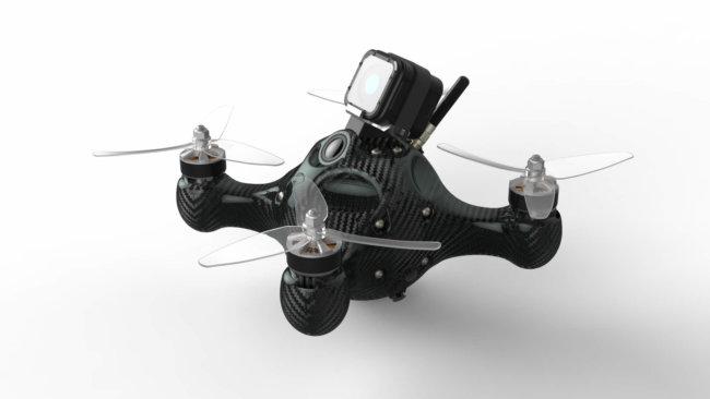 Бескаркасный гоночный дрон