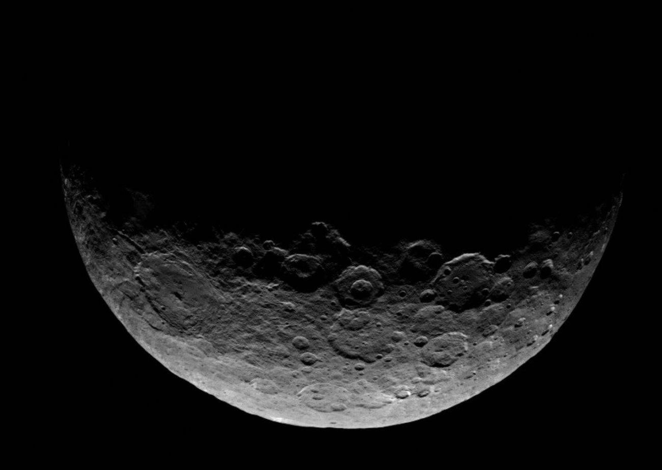 Найден самый тёмный предмет планеты Церера