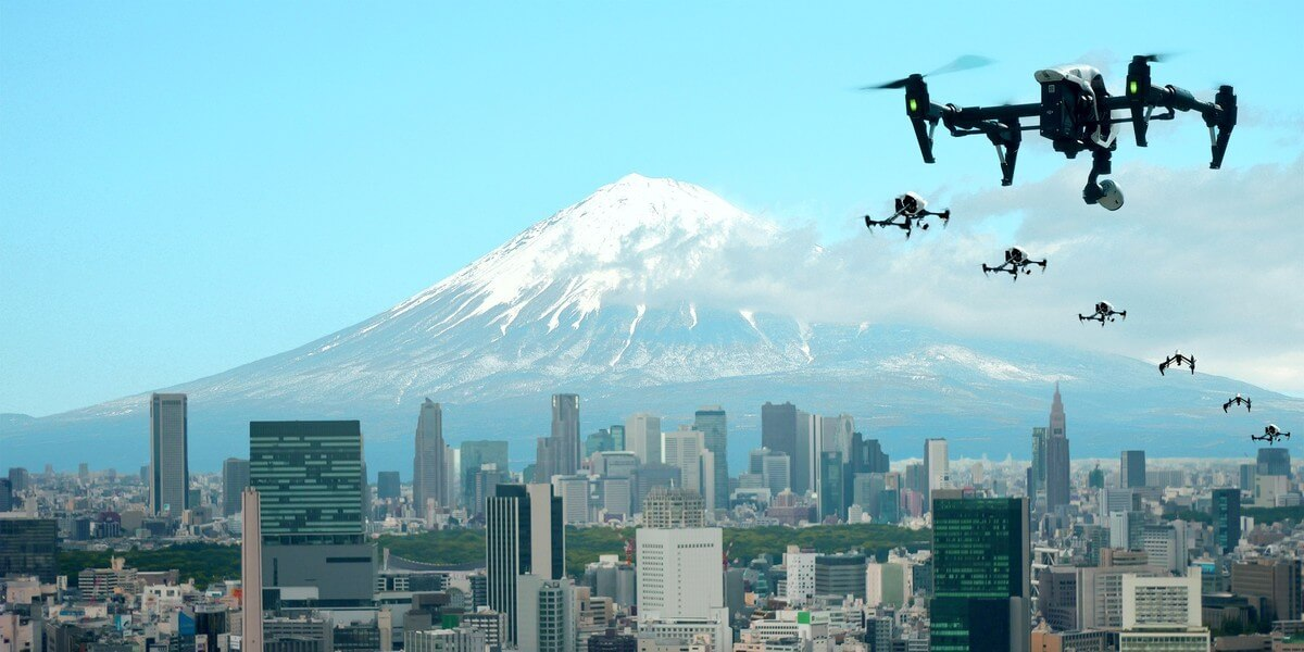 К 2019 году в Японии построят «город дронов»