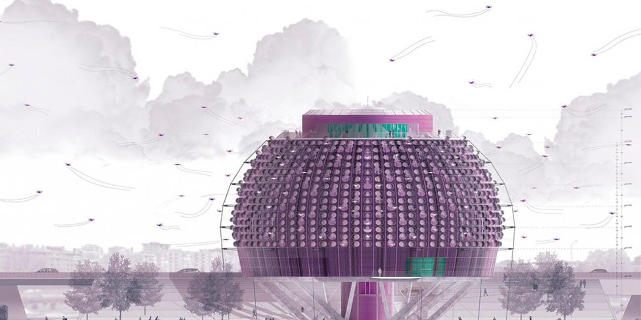 Архитектор из Мадрида представила концепт порта-концентратора для дронов