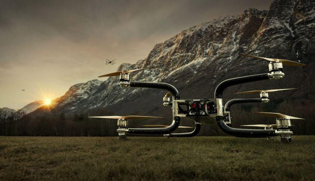 Новый норвежский дрон способен с лёгкостью транспортировать людей