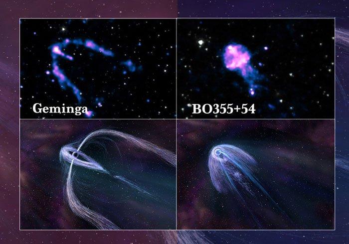 Астрономы, возможно, разгадали секрет разности излучения пульсаров (3 фото)