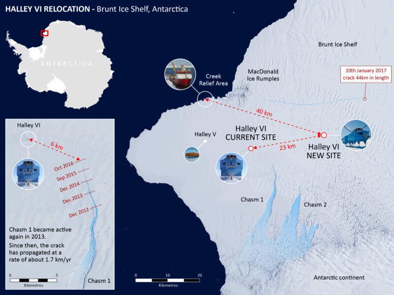 Немалый разлом вледнике Антарктиды сняли навидео английские ученые