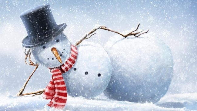 В Канаде создали самого маленького снеговика