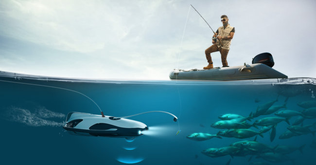 POWERRAY - подводный рыбацкий дрон