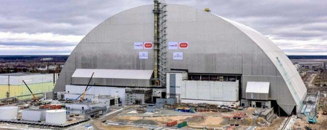 Восьмое чудо света: новый саркофаг над Чернобыльским реактором (5 фото)
