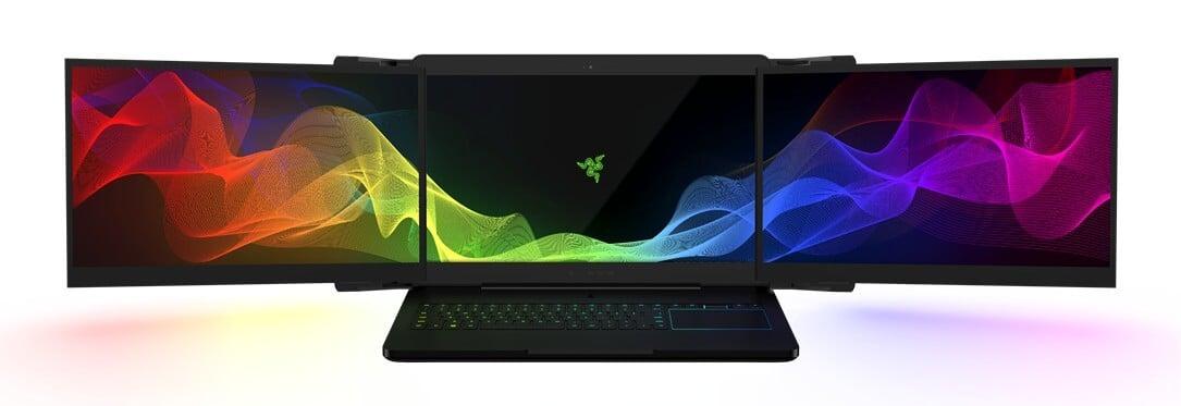 #CES | Компания Razer представила концепт ноутбука с тремя экранами