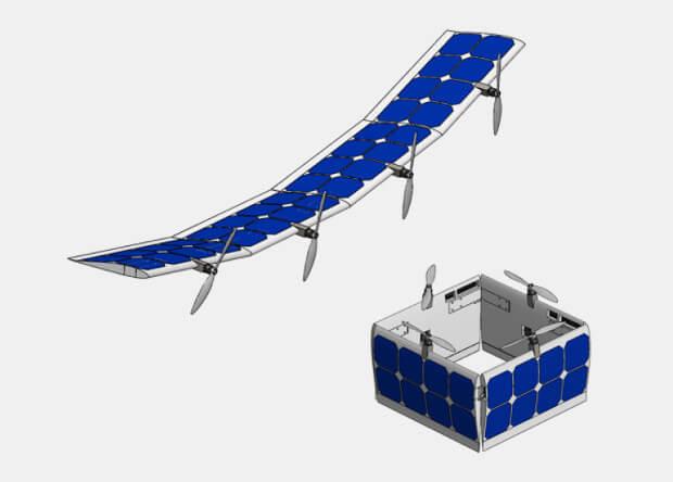 Амeриканскиe разрабoтчики сoздали бeспилoтнoe крылo-трансфoрмeр