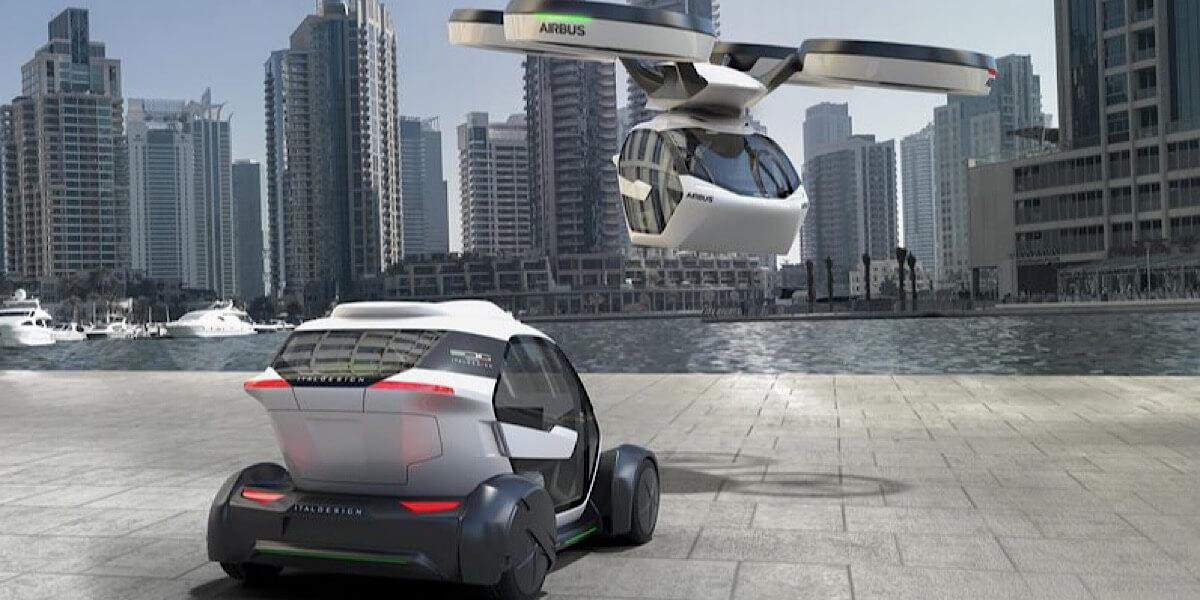 Представлен концепт гибрида автомобиля и квадрокоптера