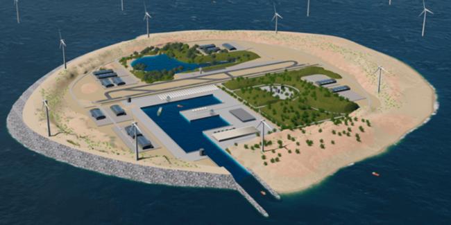 В Дании планируют перенос ветрогенераторов на искусственные острова (+видео)