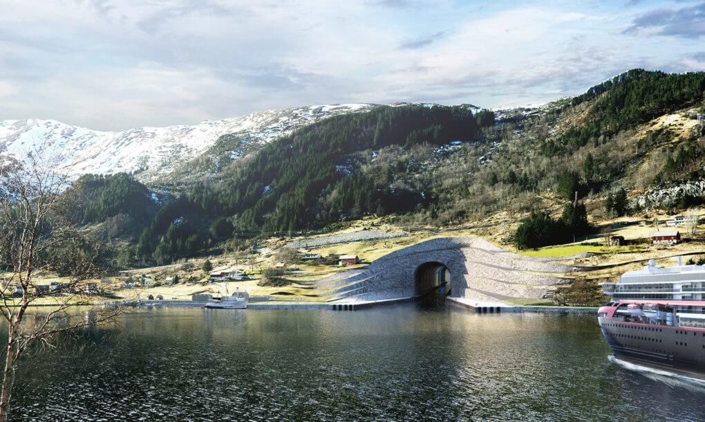 ВНорвегии одобрили постройку первого вмире подземного туннеля для кораблей