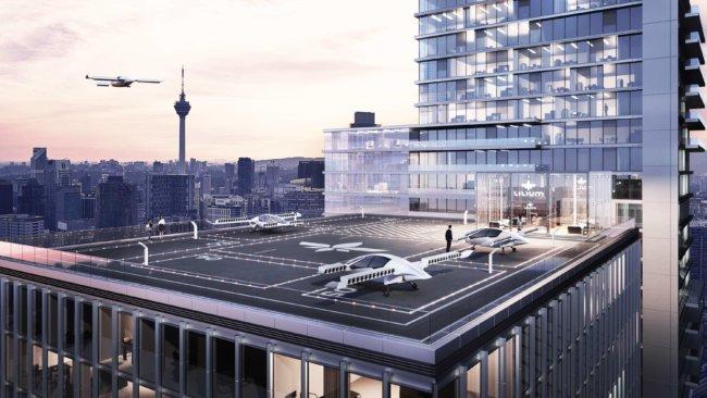 В Германии успешно испытали первый летающий электрокар (3 фото + видео)