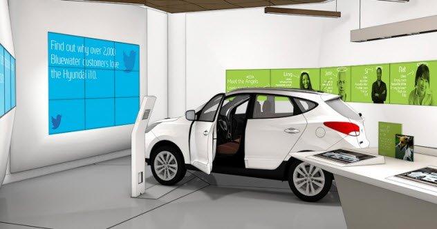 1 futuristic car dealership - 10 футуристических версий привычных мест
