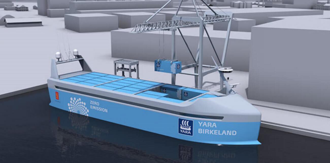 Kongsberg Maritime строит первое в мире грузовое судно-робот