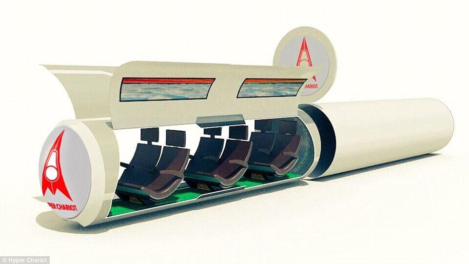 Транспортная сеть Hyper Chariot обеспечит скорость до 6500 км/ч