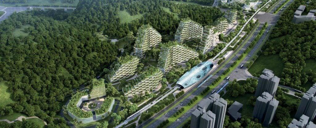 Китай начал строительство первого в мире «Лесного города»