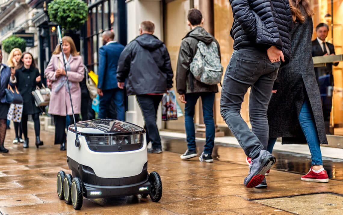 Эстония разрешила использование роботов-курьеров