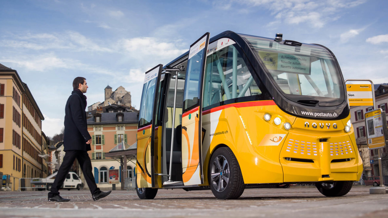 Продажи первого беспилотного автобуса начнутся осенью 2017 года