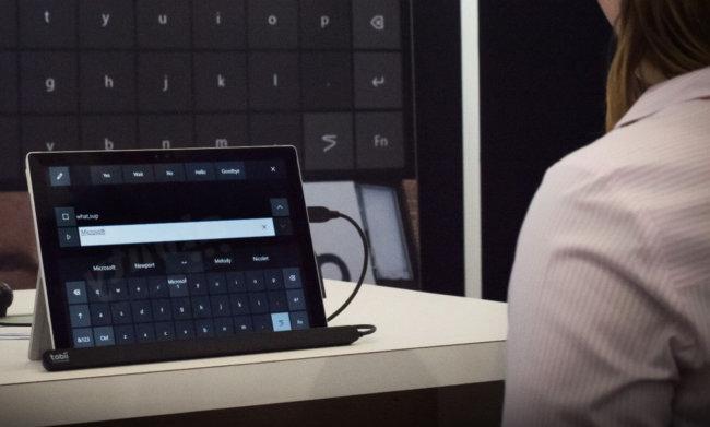 Microsoft начала тестирование управления Windows 10 при помощи взгляда (+видео)