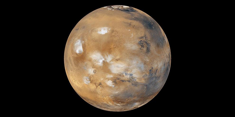 На Марсе бывают мощные, но кратковременные снежные бури