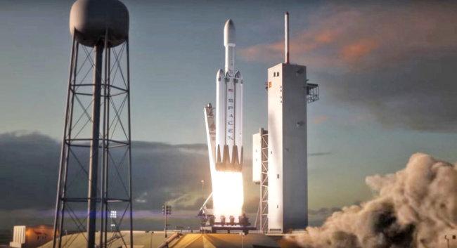 SpaceX обнародовала видеоролик, который демонстрирует задуманный сценарий полета ракеты-носителя Falcon Heavy