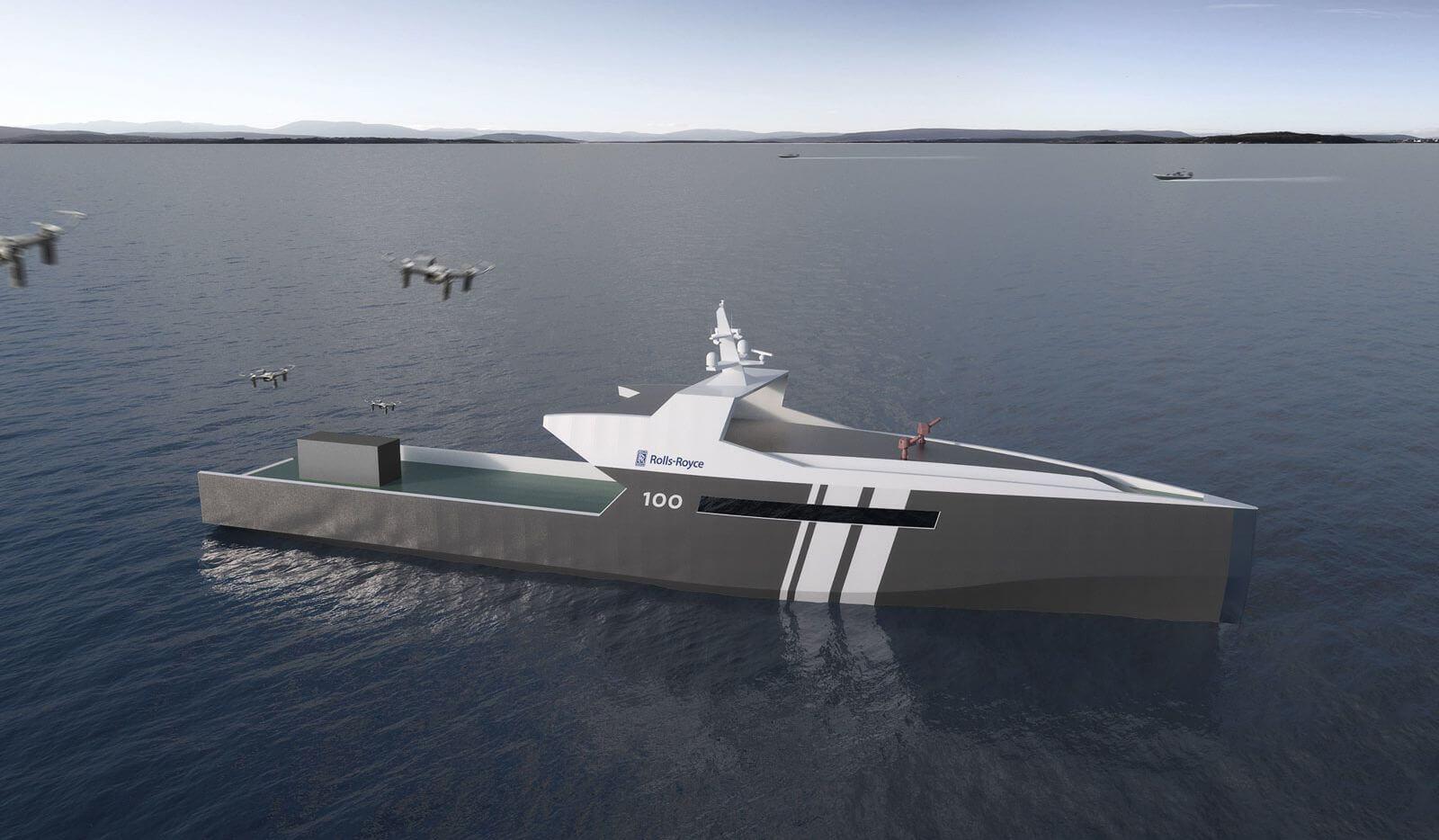 Компания Rolls-Royce создаст беспилотный военный корабль