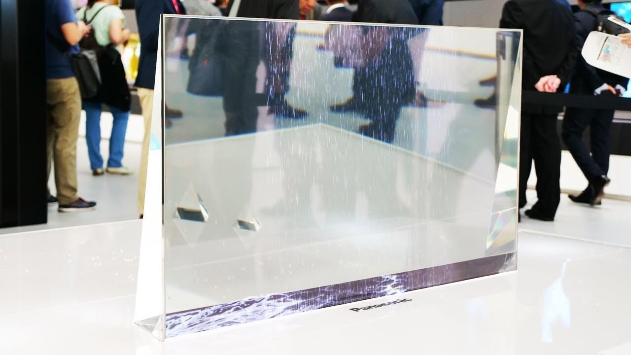 #видео   Компания Panasonic продемонстрировала прозрачный OLED-телевизор