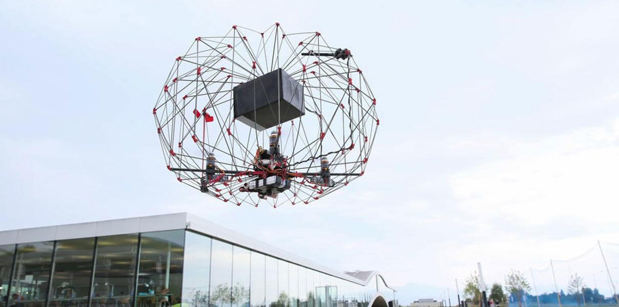 швейцарии разработали похожий одуванчик складной дрон