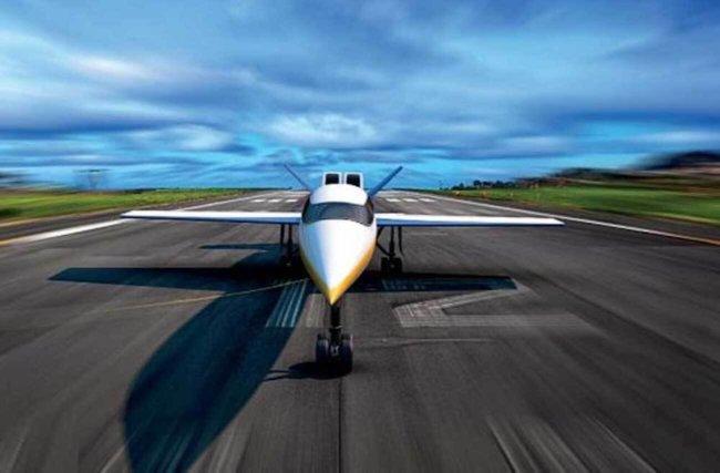 Уникальный сверхзвуковой пассажирский лайнер SX-1.2 впервые поднялся в воздух (2 фото)