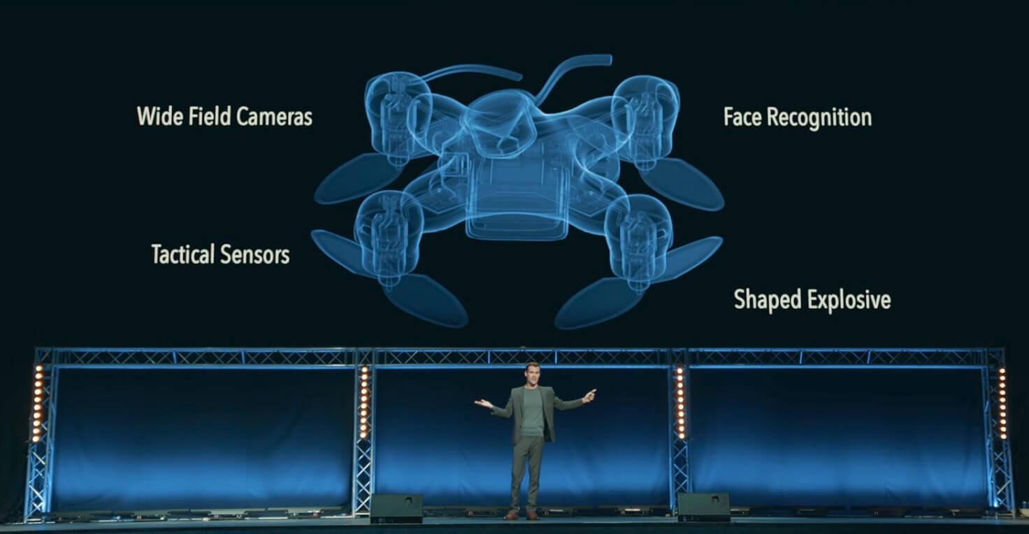 #видео | Учёные показали, каким жутким станет умное оружие будущего