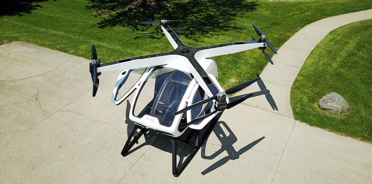 пассажирский дрон surefly совершит полёт январе