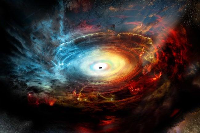 Может ли материя покинуть горизонт событий во время слияния черных дыр? (6 фото)
