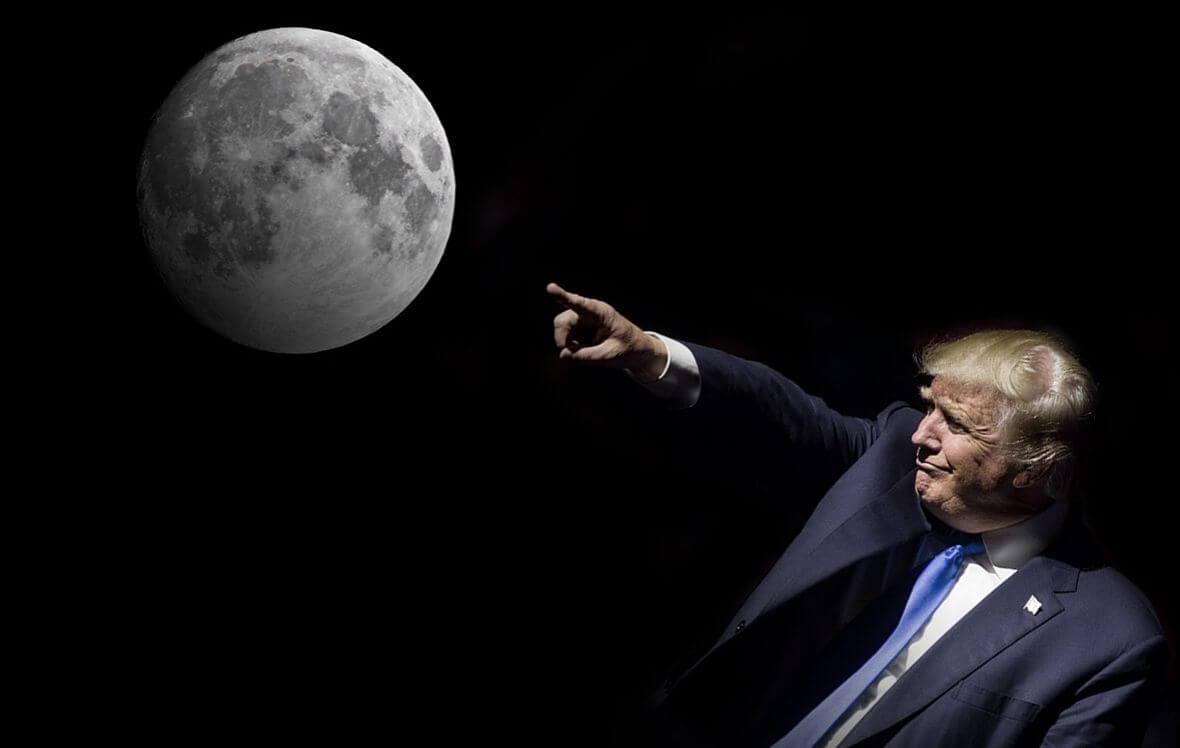 Дональд Трамп хочет вновь отправить американцев на Луну