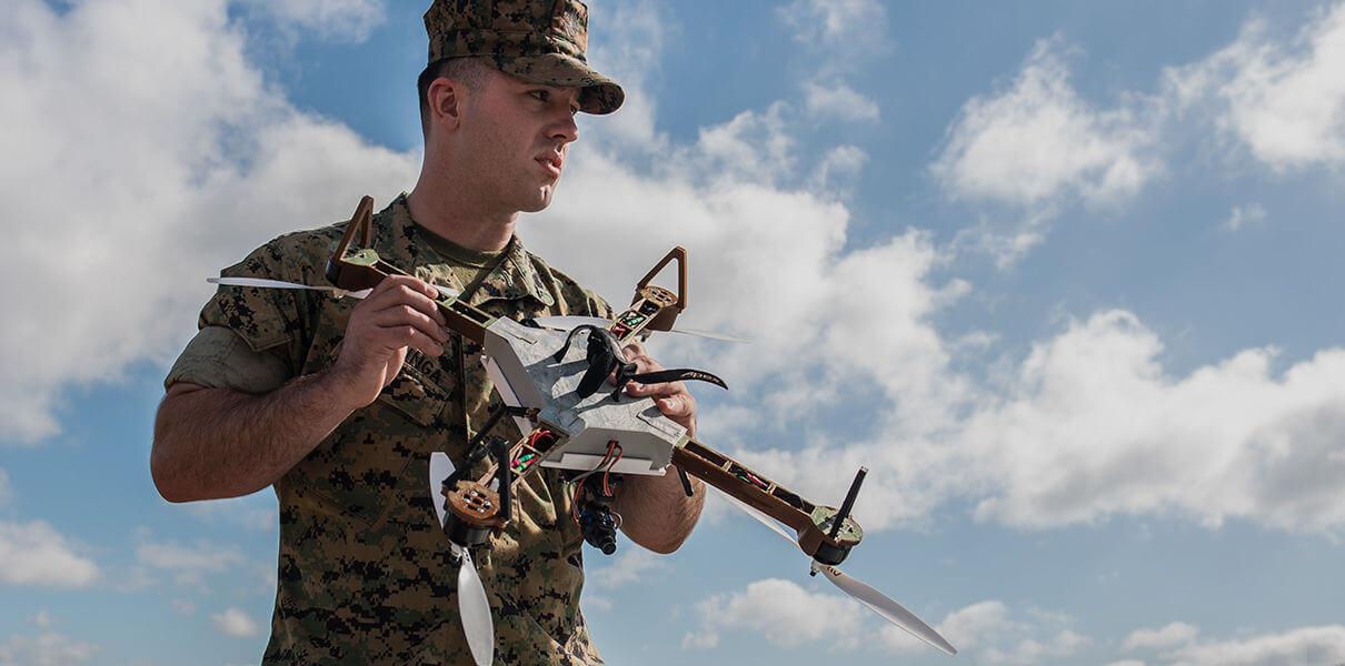 Морпехи США будут печатать дроны прямо на местах