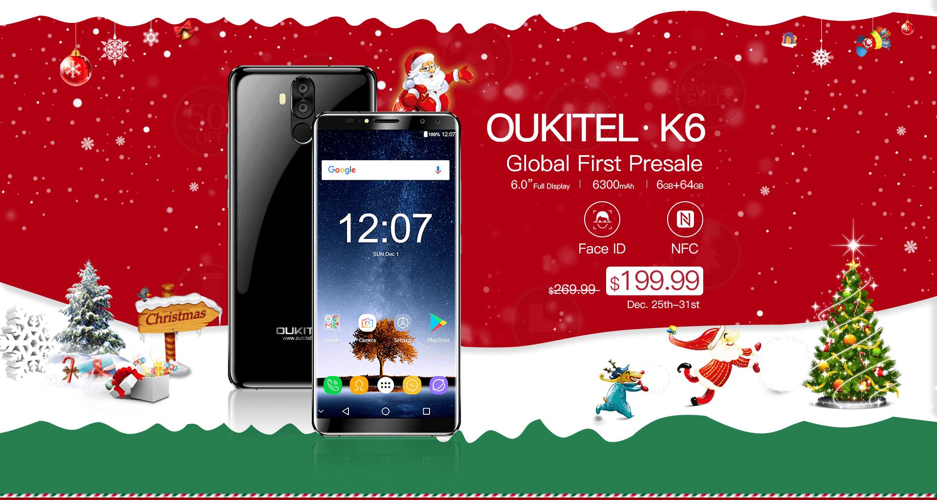 OUKITEL K6 поступил в продажу по специальной цене