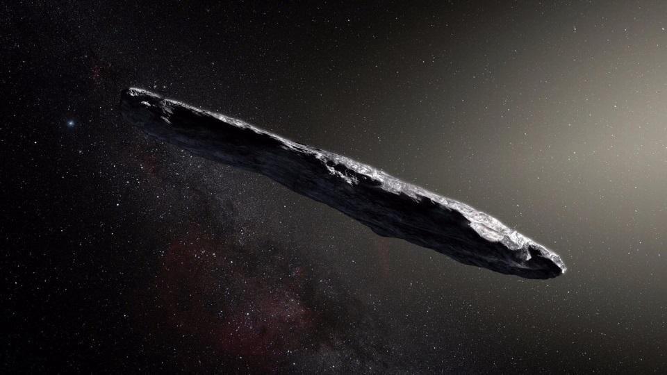 Ученые объяснили странную форму «инопланетного» астероида Умуамуа (3 фото)