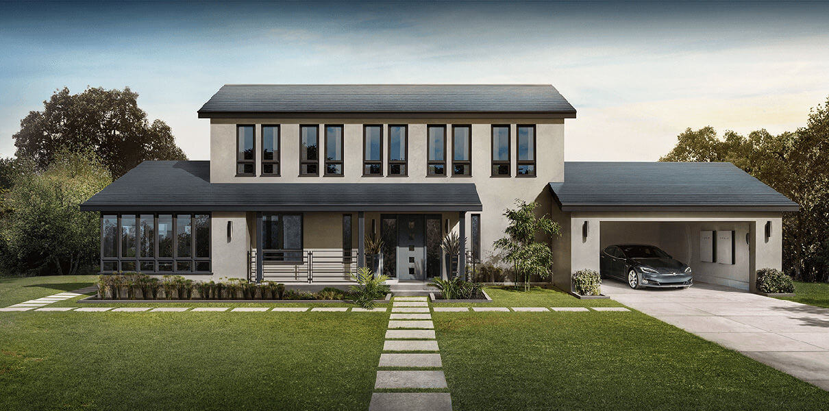 Tesla Beginn der Installation von Solar-Dachziegeln in den Häusern ...