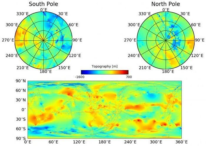 Астрономы создали полную топологическую карту одного из спутников Сатурна