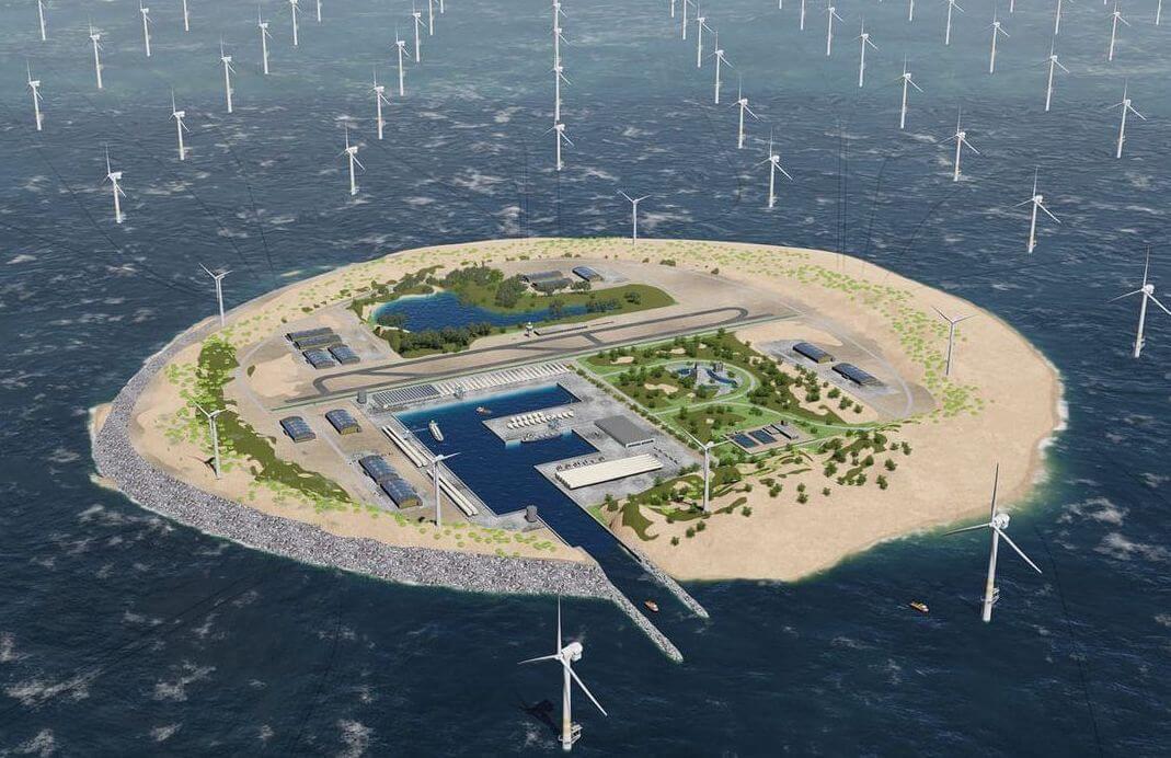 Предложен проект строительства гигантской ветряной электростанции в Северном море (2 фото)