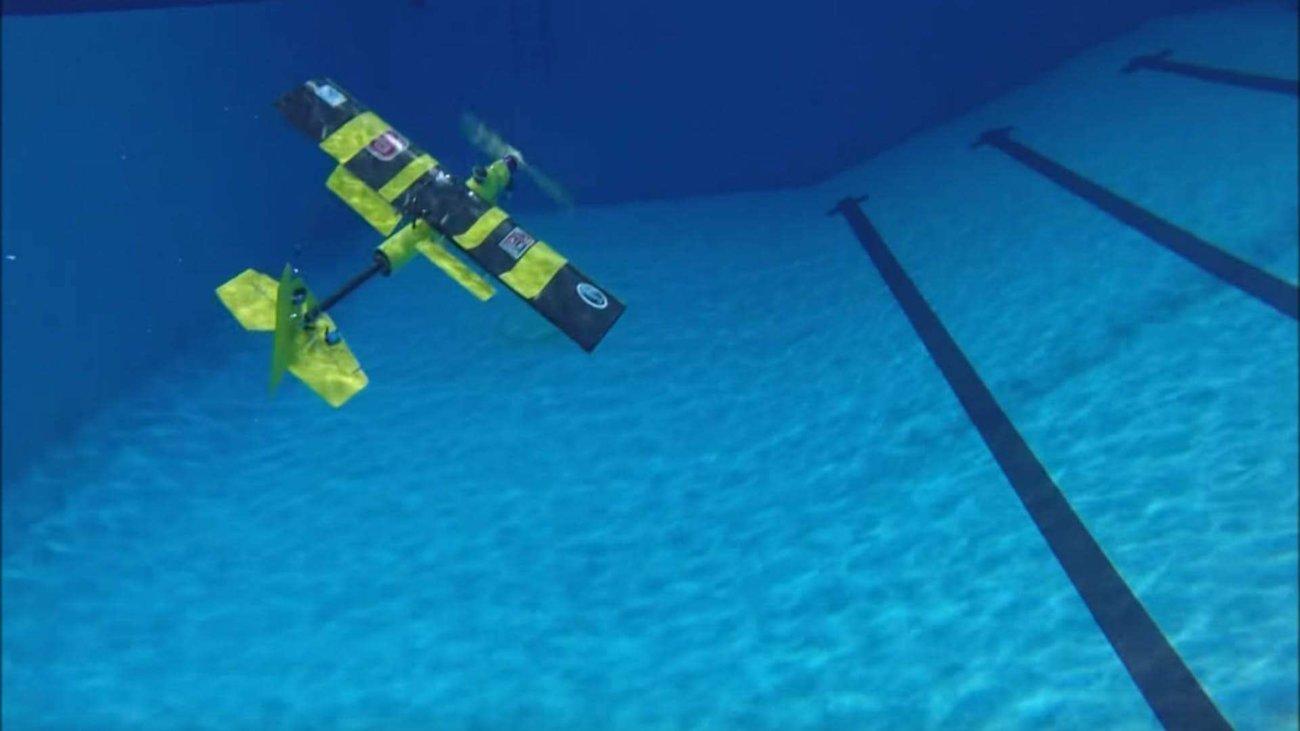 eagleray дрон способный одинаково плавать водой летать воздухе