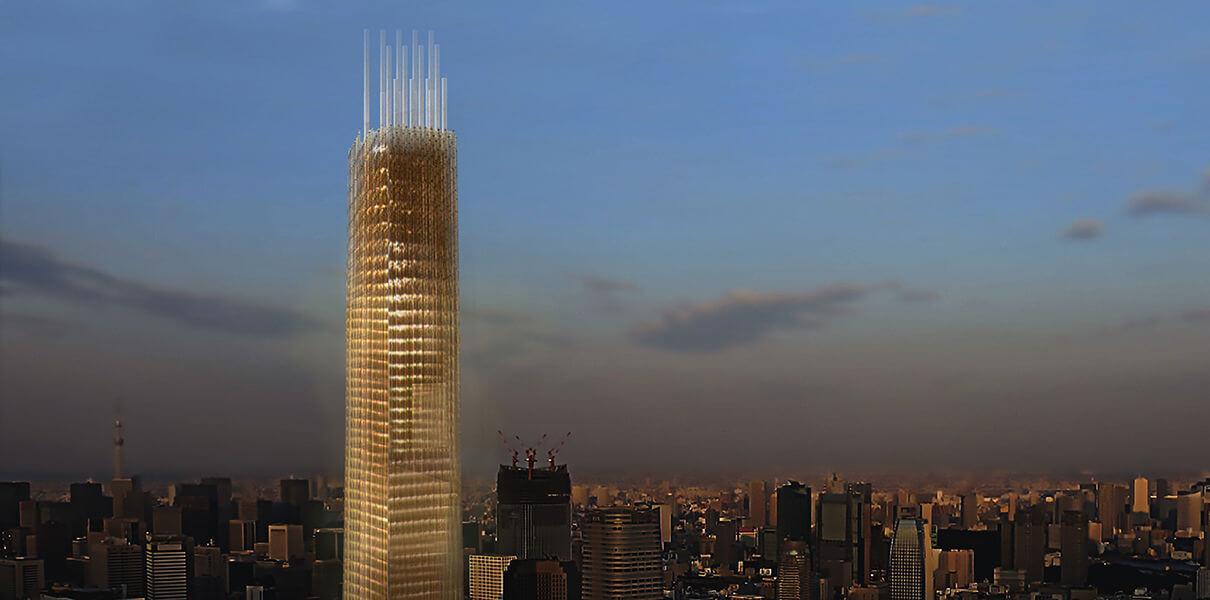 В Токио построят деревянный 70-этажный небоскреб