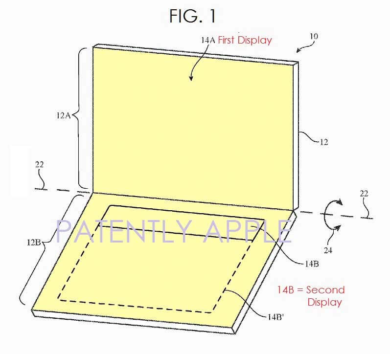 Apple запатентовала MacBook с экраном-клавиатурой