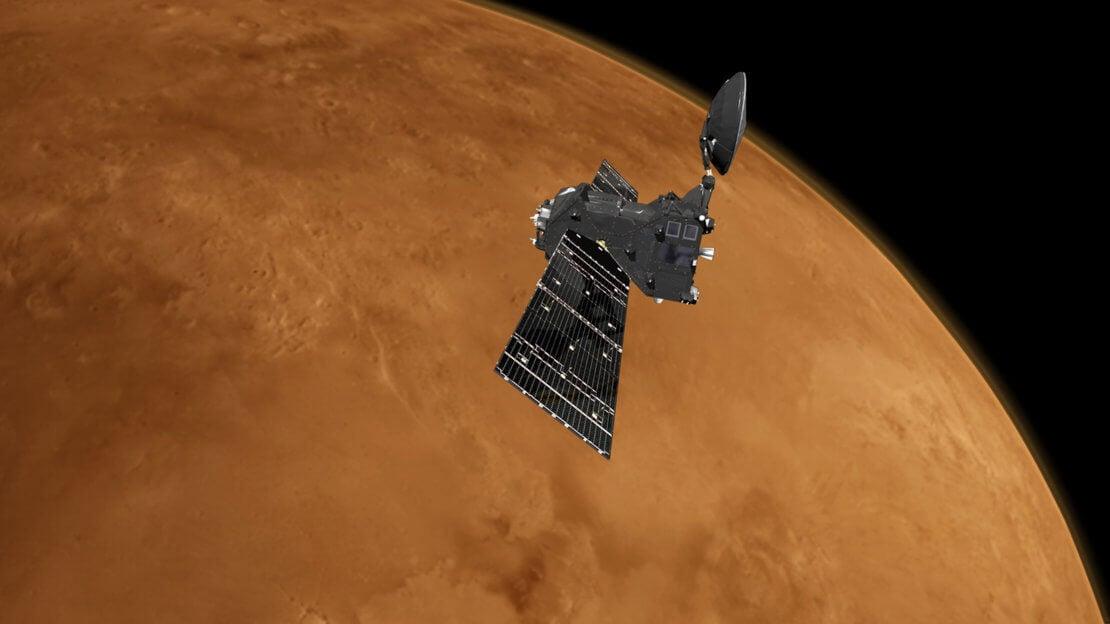 «Экзомарс» передал первые снимки с новой орбиты (3 фото)