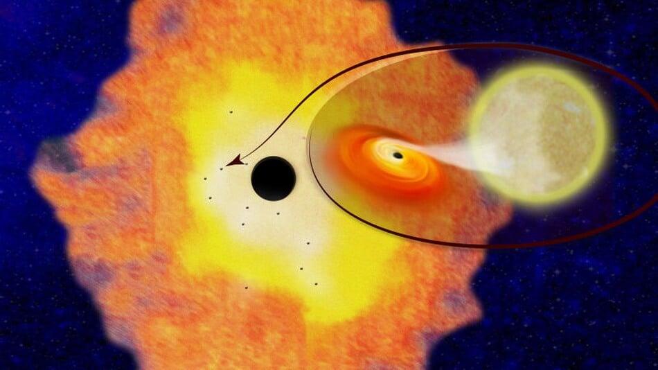 Астрономы нашли несколько тысяч черных дыр в центре Млечного Пути (2 фото)