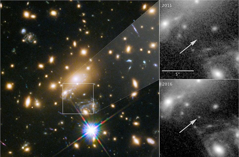 Невероятная удача позволила получить фотографию пока самой далекой от нас звезды