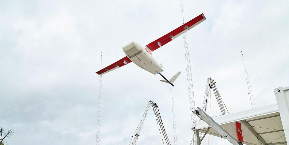 zipline запустила самый быстрый мире дрон коммерческой доставки
