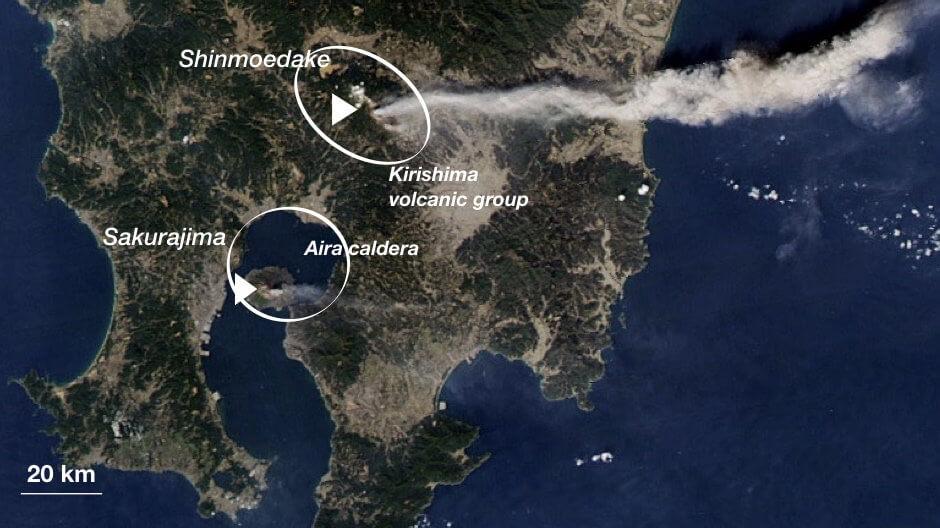 Между двумя японскими вулканами нашли подземную связь