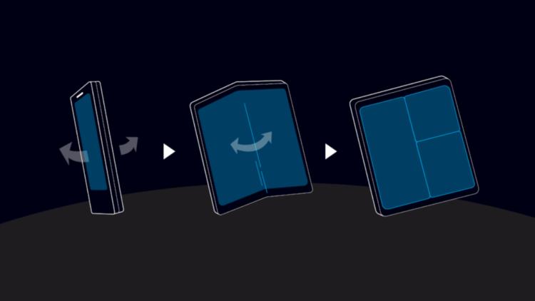 Складное мобильное устройство