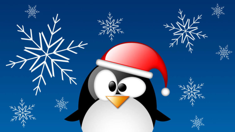 Linux Tux Christmas