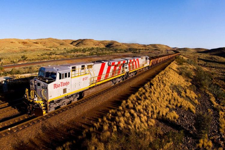Автономный поезд Rio Tinto